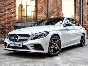 Mercedes AMG C43 Tieferlegung Vorher